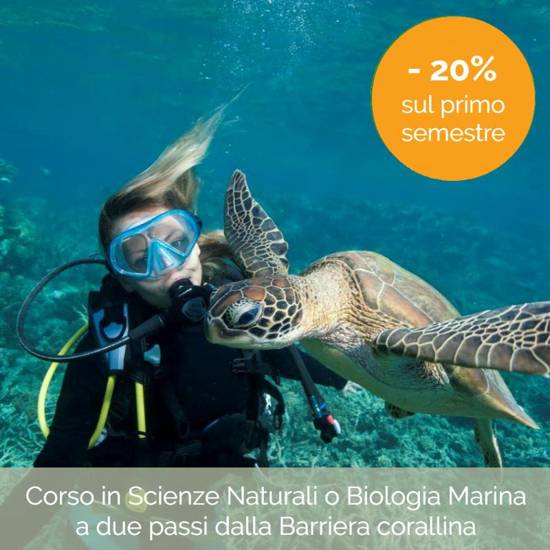 Offerta Università: Scienze naturali o Biologia marina in Australia