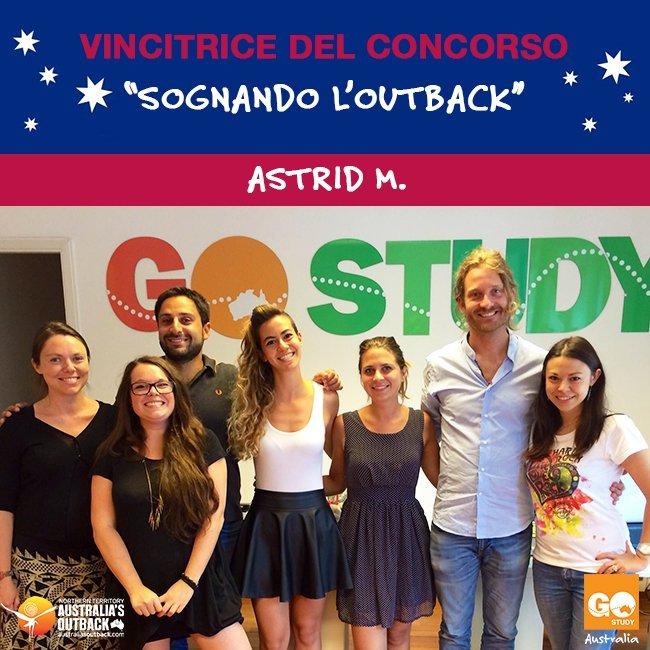 La vincitrice del concorso Sognando l'Outback: Astrid M., complimenti!