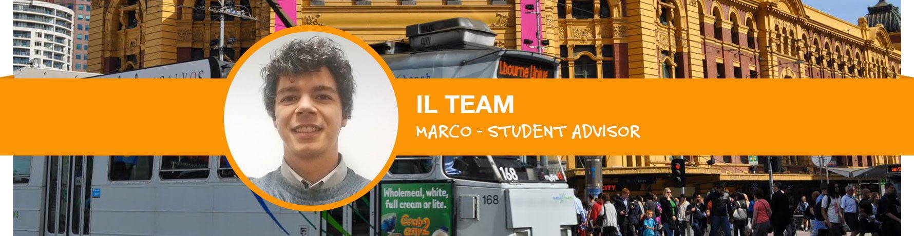 La storia di Marco - Student Advisor Go Study Australia - Ufficio di Melbourne