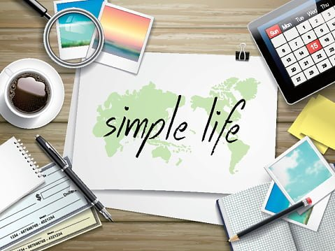 simple life written on paper