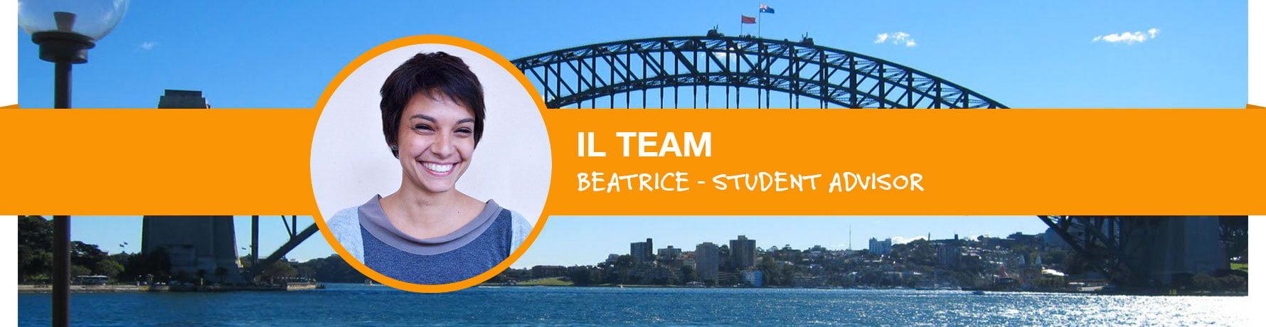 La storia di Beatrice - Student Advisor Go Study Australia - Ufficio di Roma