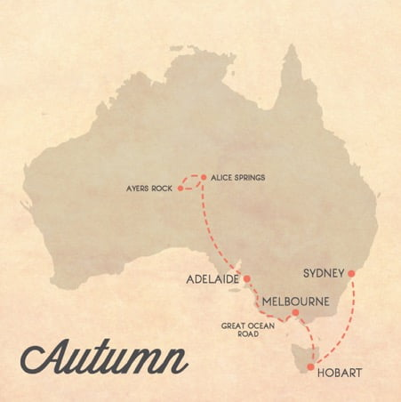itinerario australia autunno