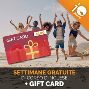Offerta 10 Anni - Settimane Gratis + Gift Card