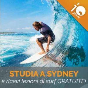 Speciale 10 Anni - Studia inglese + Lezioni di SURF IN REGALO