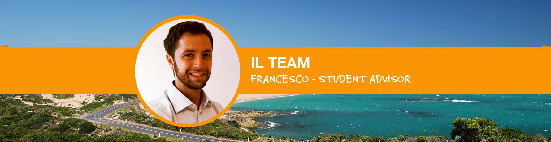 La storia di Francesco Dusi - Student Advisor Go Study Australia - Milano