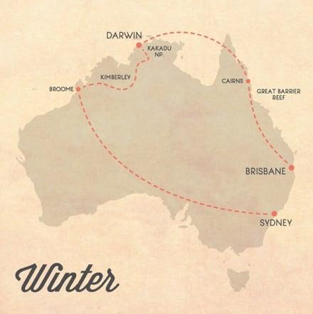itinerario australia inverno