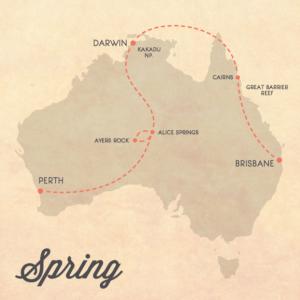 itinerario primavera australia