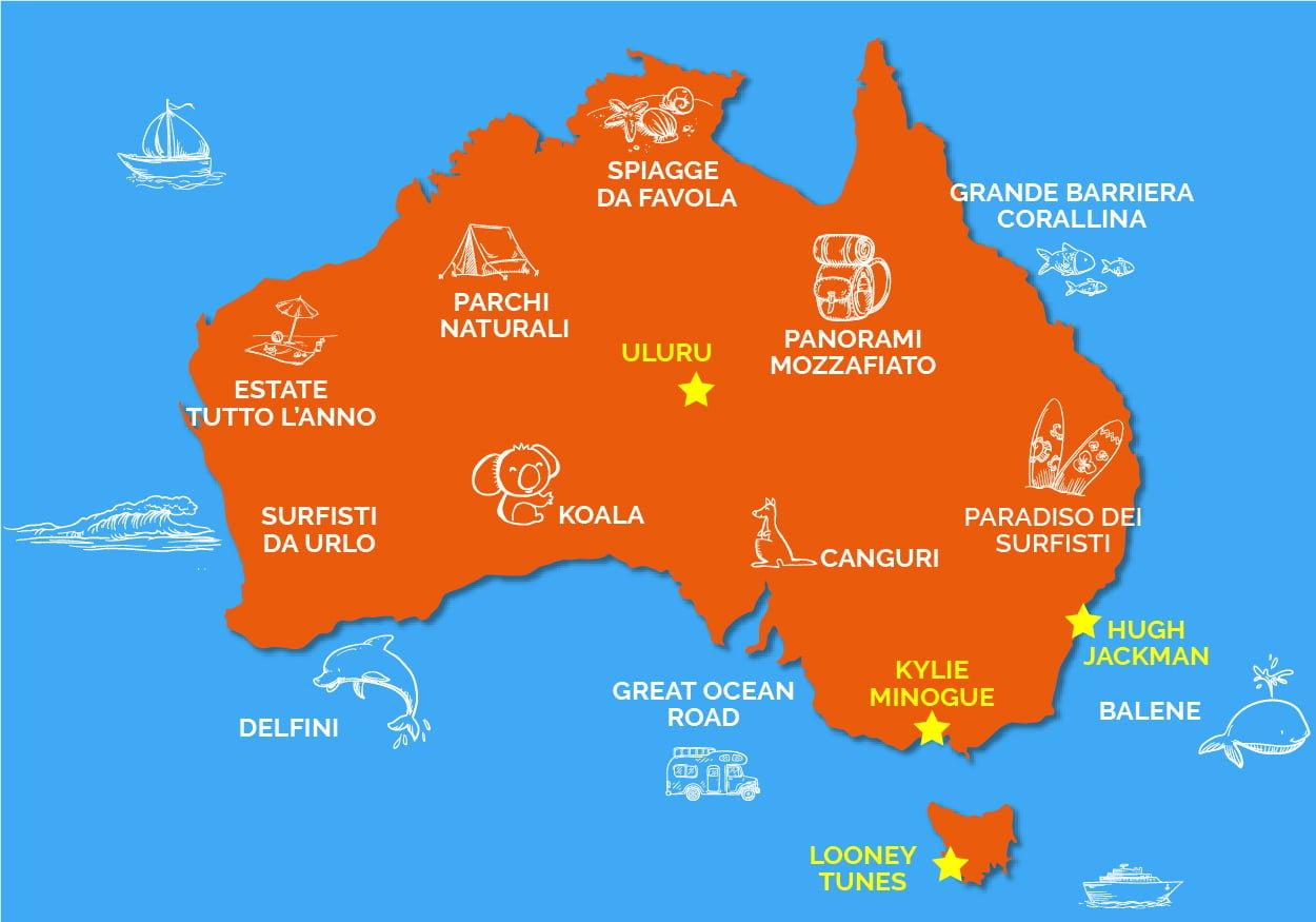 Australia 10 Cartine Per Conoscerla Meglio