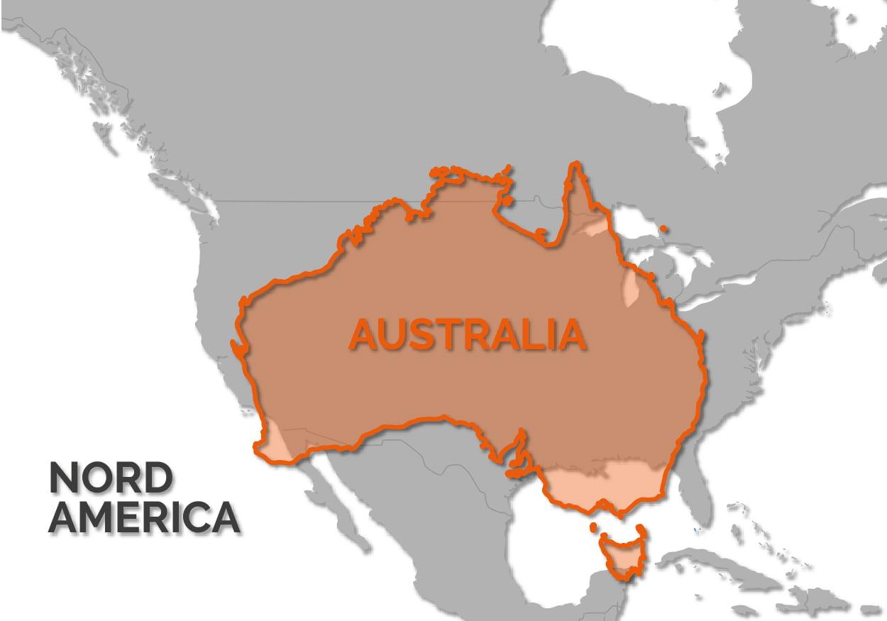 Mappa: Australia vs USA