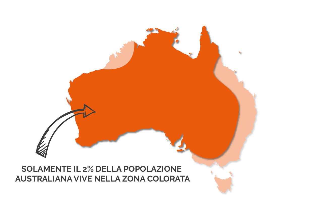 Mappa: Dove vivono gli australiani
