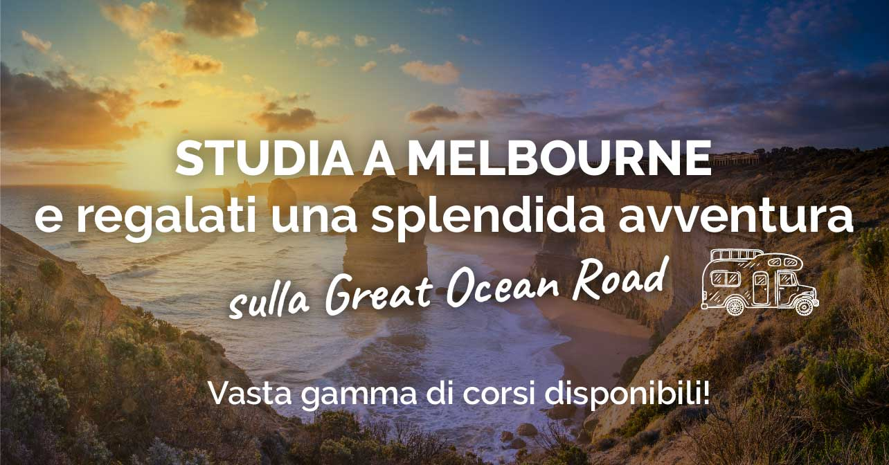 OFFERTA - Studia inglese a Melbourne + In Regalo Tour sulla Great Ocean Road