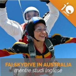 OFFERTA - Studia inglese in Australia + lancio in paracadute IN REGALO
