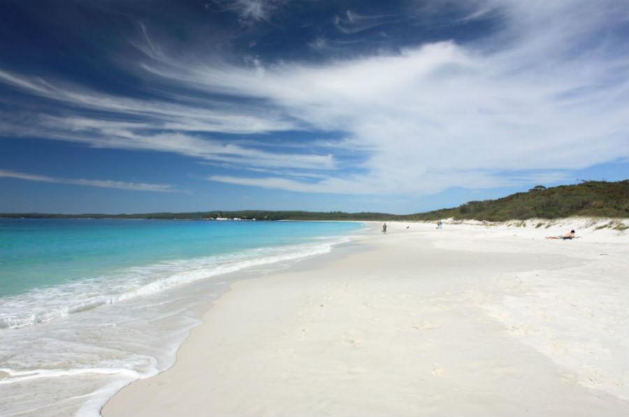 Hyams beach, la spiaggia più bianca del mondo