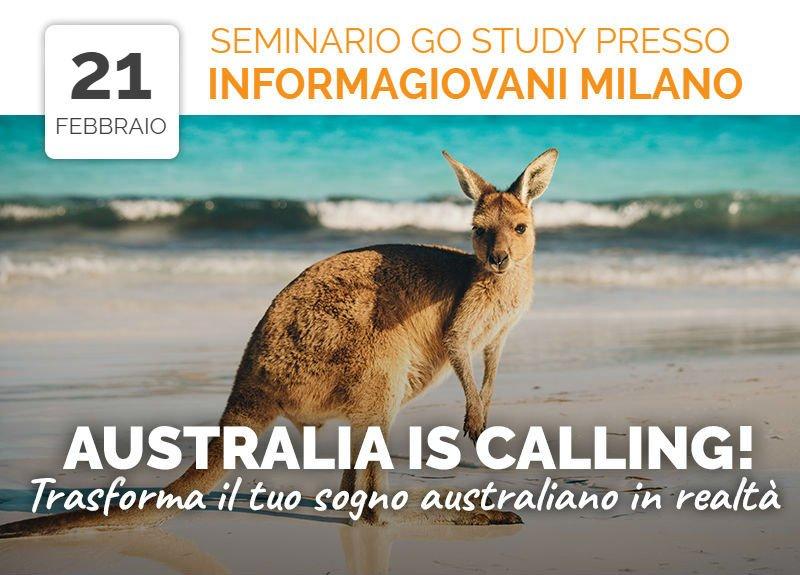 Australia is Calling! seminario Informagiovani Milano febbraio 2018