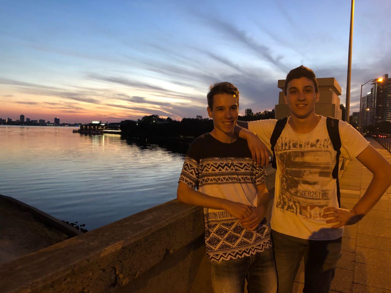 Alberto e Nicola in Australia
