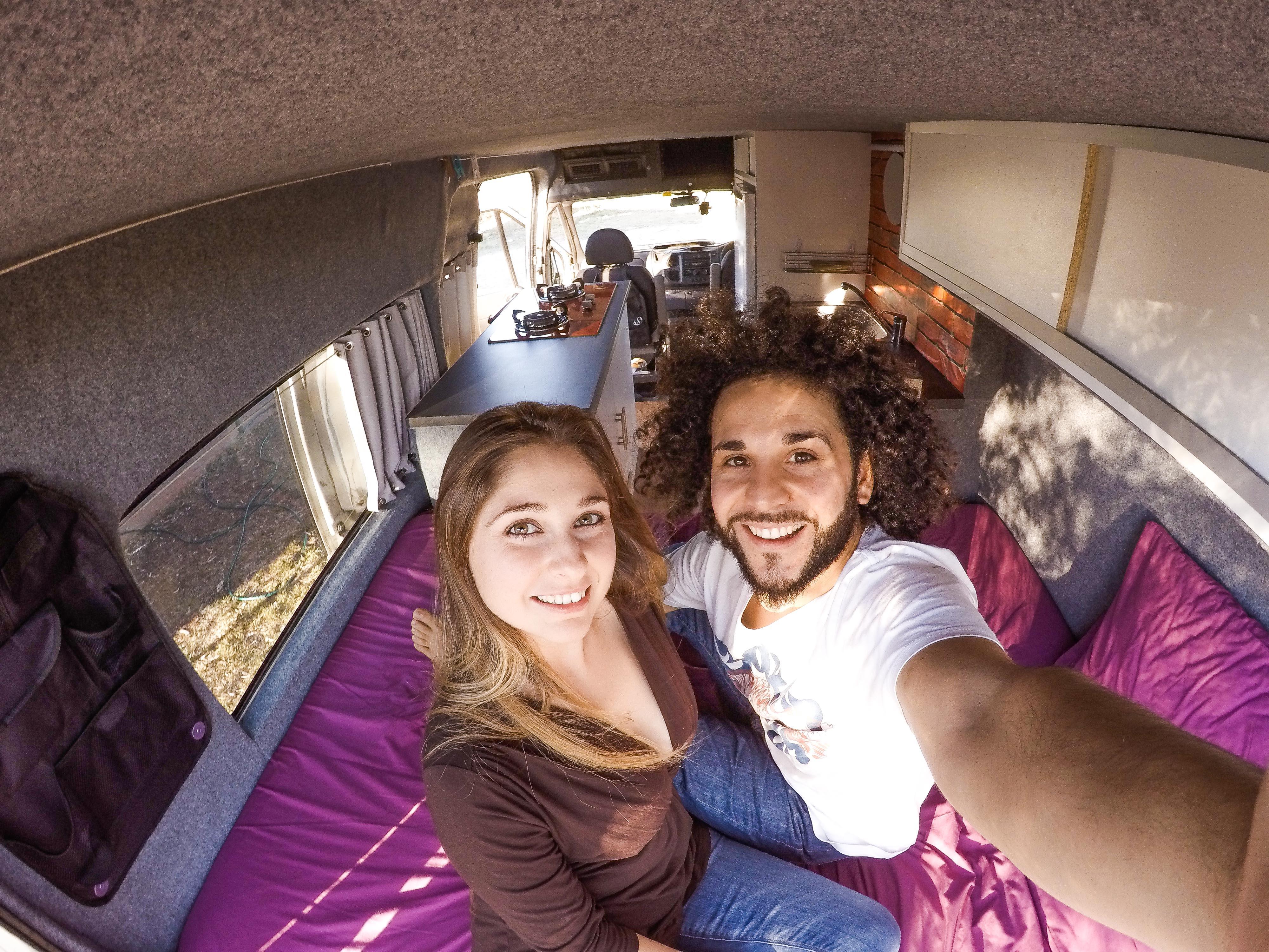 Francesco & Veronica nel loro van!