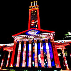 Natale in Australia: Gold Lotto City Hall Lights